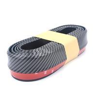 LumiParty Universal Front Bumper Spoiler Carbon Fiber Stripe Anti scratch Lip Rubber Bumper Protector for Car/Truck/ SUV r30