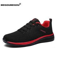 Новинка; Вулканизированная обувь; мужская повседневная обувь из сетчатого материала; мужские кроссовки на шнуровке; ультралегкие дышащие кроссовки для бега; Tenis Feminino Zapatos