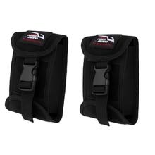 2 قطعة استبدال الغوص حزام الوزن جيب الحقيبة مع الإفراج السريع مشبك السباحة الغوص 16x11 سم/6.3x4.3 بوصة
