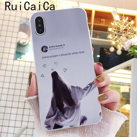 Ruicaica Ariana Grande God is a woman DIY Printing Drawing Phone Case for iPhone 8 7 6 6S Plus X XS MAX 5 5S SE XR 10 Cover Islamabad
