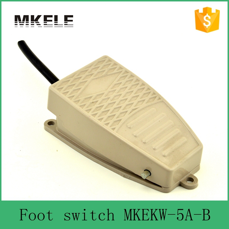 MKEKW-5A-B Safety standard CE certificate SPDT Aluminum industrial high quality 15A 250VAC electric foot switch with push button [vk] z 01h b switch snap act spdt 100ma 125v switch