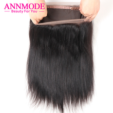 Annmode Malaysian Straight Hair 360 Lace Frontal Closure With Baby Hair Natural Hairline Non-remy Human Hair