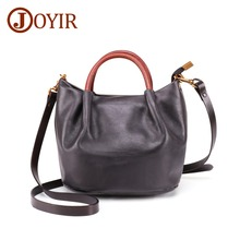 JOYIR Genuine Leather Womens Messenger Bag Ladies Fashion Tote  Shoulder Female Vintage Crossbody Bags For Women