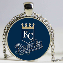 High quality vintage necklace jewelry style Kansas City Royals necklace MLB Baseball team jewelry