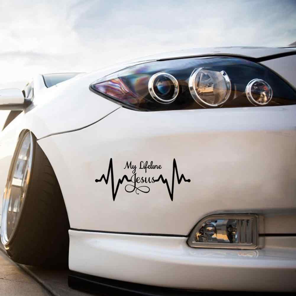 Nova moda lifeline jesus gráfico adesivo deus cristão religioso bonito estilo do carro decalque do carro adesivo