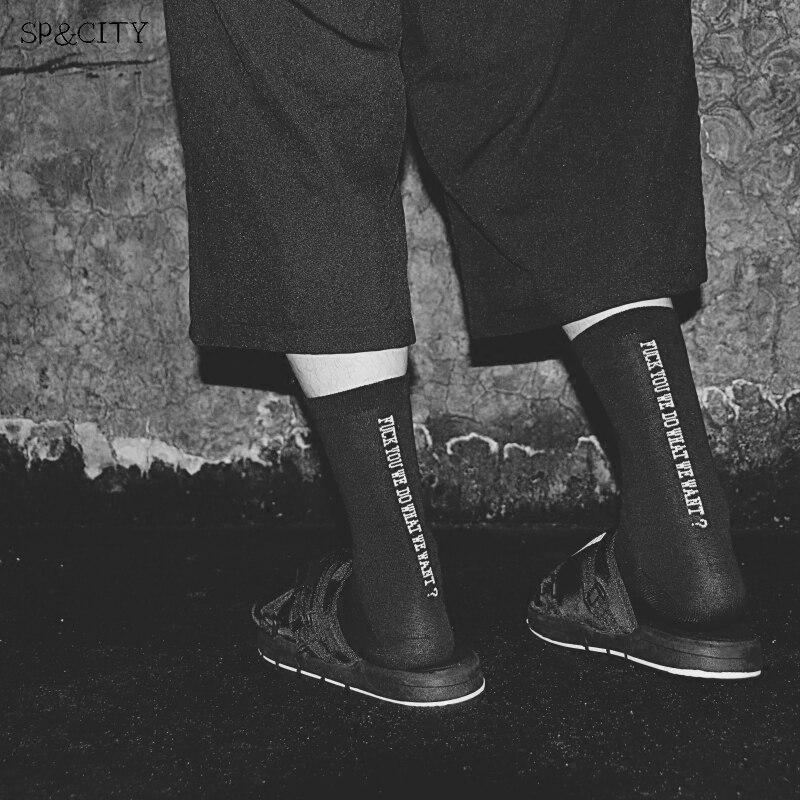 Autumn Ins Style Fashion Letter Patterned Short Socks Cool Mens Harajuku Skateboard Socks Low Hipster Cotton Art Socks Male Sox