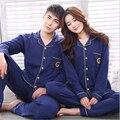 Spring and Autumn 100% Cotton Couple Pajama Sets Lounge Wear Long Sleeve Lovers Pajamas For Women and Men Pyjamas Sleepwear Suit