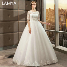 LAMYA Pregnant Wedding Dresses Appliques Bridal Gown Customized Simple Wed Dress robe de maria
