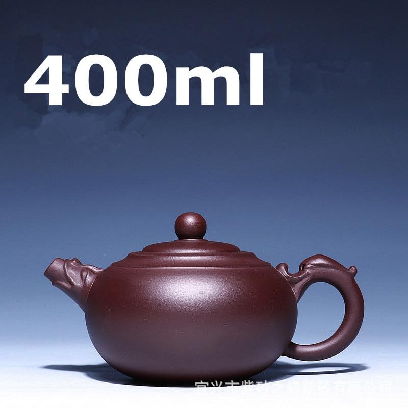 Purple Clay Teapot Chinese 400ml Kung Fu Tea Set YiXing Zisha Dragon Tea Pot Handmade Tea Pots Master Maker Kettle Ceramic