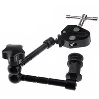 New Hot Super Clamp 11 Inches Magic Articulated Arm For Mounting HDMI Monitor LED Light LCD