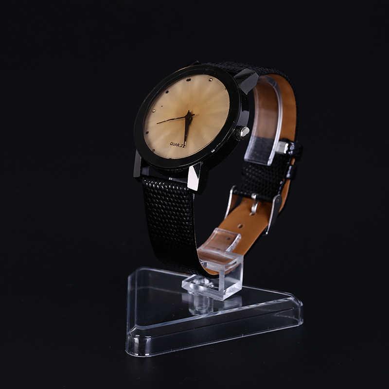 Organizador de joyería soporte de estación de joyería de exhibición dura claro C-modelo reloj pulsera brazalete muestra soporte de pantalla