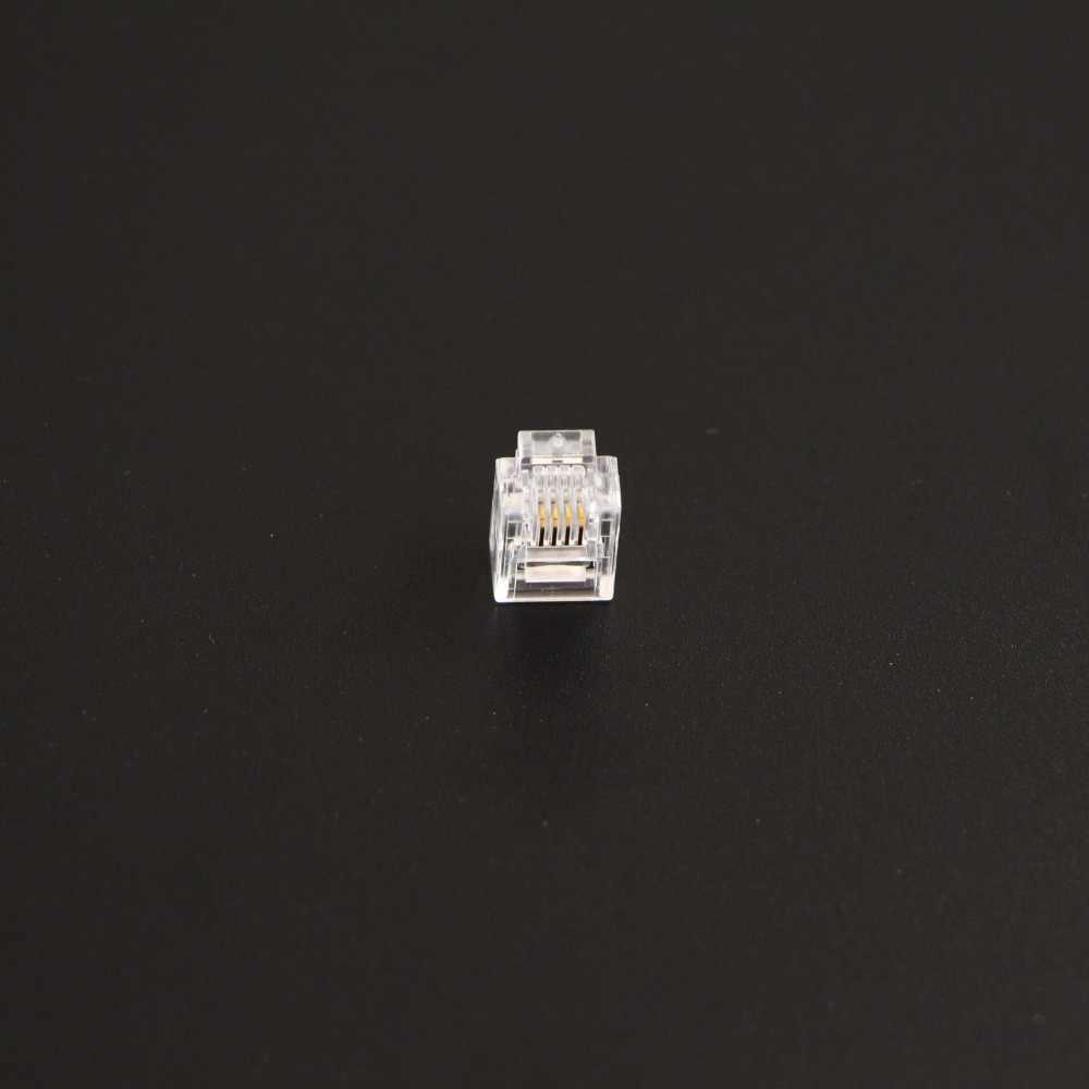 500 adet rj11 ağ fişi 6P4C telefon kedi 3 fiş UTP telefon kablosu için, Keystone Jack, patch panel