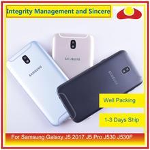 Oryginalny do Samsung Galaxy J5 Pro 2017 J530 J530F SM J530F J530FM obudowa klapki baterii rama tylna pokrywa Case podwozie Shell
