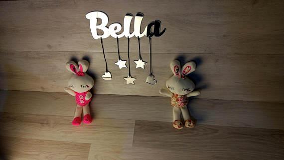 Настенный декор, настенное зеркало, имя, персонализировать детское, настенный букв, детский Декор стены, подарок ребенку, пользовательские