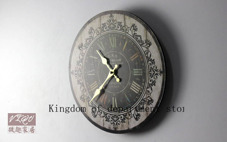 2015 New Retro Vintage Rustic Wall Clock Shabby Chic Home Office Coffee shop Bar Decor Decoration Best Gift Craft