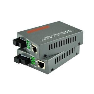 Image 2 - 1 pair HTB GS 03 A/B 10/100/1000M ricetrasmettitore in fibra Modalità Singola Singola Fibra SC Porta 20KM Fast Ethernet Media Converter