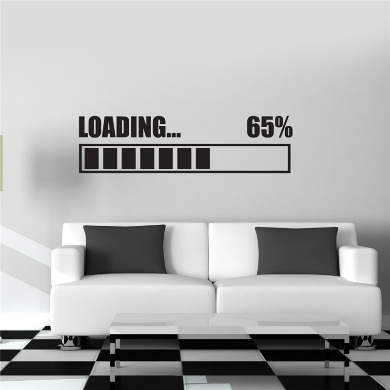 Free shipping Wall Stickers Vinyl Decal Loading Gamer Gaming Wall Sticker RoomMates Home ...