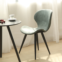 Nordic solid wood dining chair modern minimalist European home chair reception chair coffee shop tea shop tables and chairs