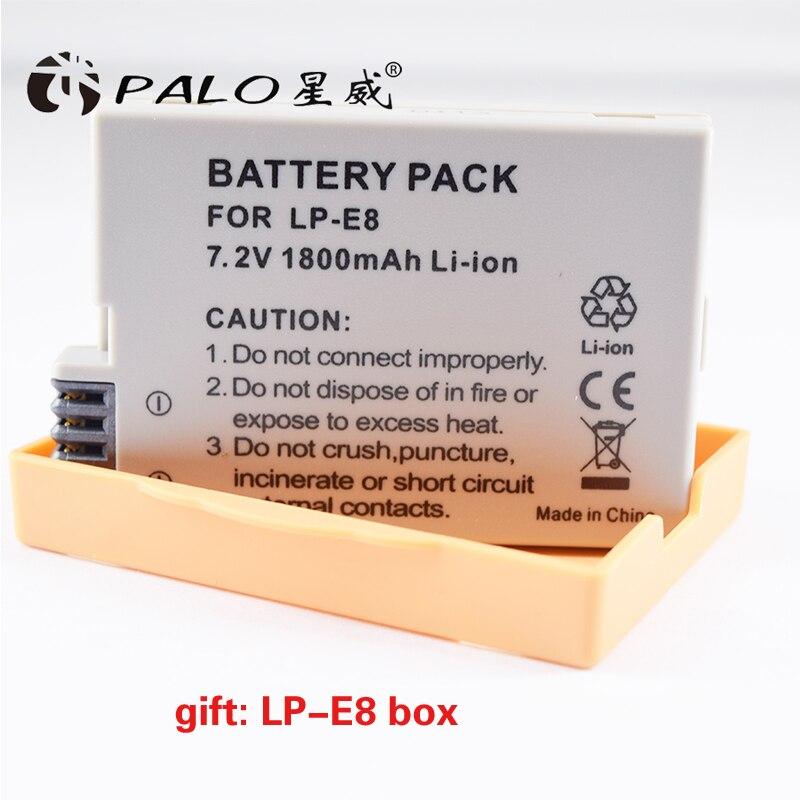 1 pz LP-E8 LP E8 LPE8 Batteria Della Macchina Fotografica Ricaricabile Batterie Per Canon EOS 550D 600D 650D 700D Rebel T2i EOS bacio X4 X5 X6i X7