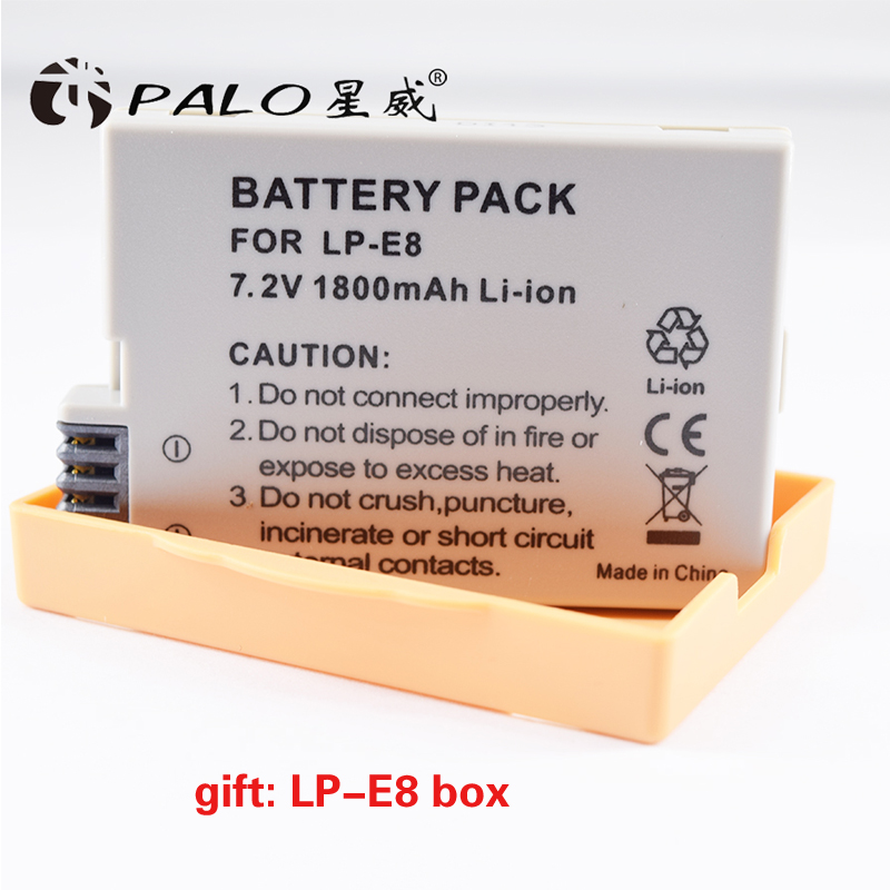 1pcs LP-E8 LP E8 LPE8 Camera Rechargeable Battery Batteries For Canon EOS 550D 600D 650D 700D Rebel T2i EOS Kiss X4 X5 X6i X7 lvsun universal dc & car camera battery charger for lp e12 battery for canon eos m eos 100d kiss x7 rebel sl1 lpe12 camera page 4