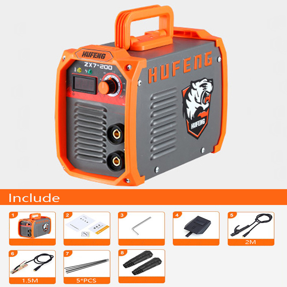 Mini Welder Inverter MMA ARC Welders IGBT AC Welding Machine 200A 220V Home Device Welding Inverters Welding Tongs& electrodes portable arc welder household inverter high quality mini electric welding machine 200 amp 220v for household