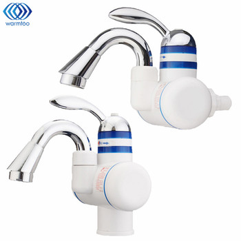 220V Instant Heating Electric Water Tap Leakage Protection Plug Electrothermal Faucet Hot & Cold Kitchen Sink Household