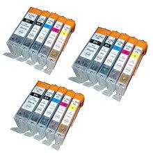 15PK Bulk Ink PGI-750XL CLI-751XL Compatible For Canon Cartridge PIXMA MX727 MX927 Ip7270 IX6770 MG5570 IX6870 IP8770 No.260