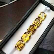 Tbj, натуральный бразильский цитрин oct10 * 12 мм approx5.5ct., 100% цитрин свободные драгоценные камни для ювелирных изделий из стерлингового серебра 925 пробы