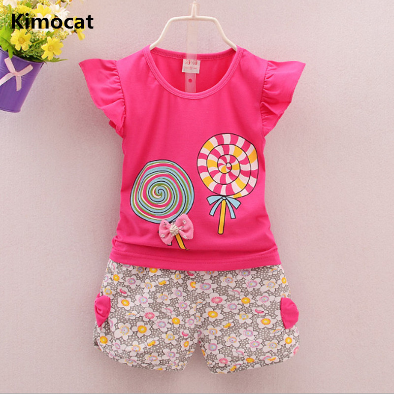 2018 new summer boys cute cartoon 2PCS childrens clothing baby girl floral vest blouse shorts suit girls boys clothing set