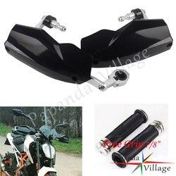 Uniwersalny motocykl czarny 22/28mm ochraniacze dla Husqvarna KTM Duke 125 200 250 390 690 790 1290 EXC 300 TE300 TE250 MX Enduro