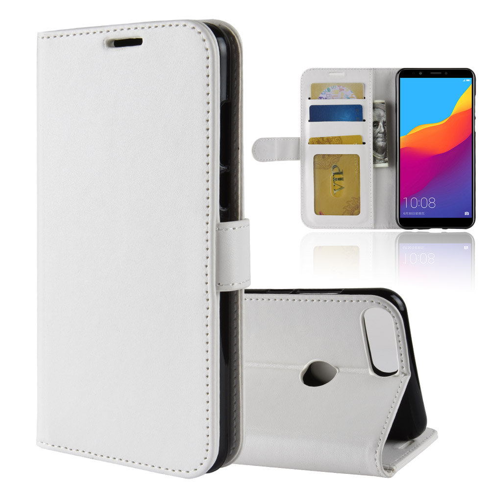 For Huawei Honor 7C Business Leather Case For Huawei Enjoy 8 Wallet Flip Fold Cover Cases Skin covers Card Slot Photo Frame