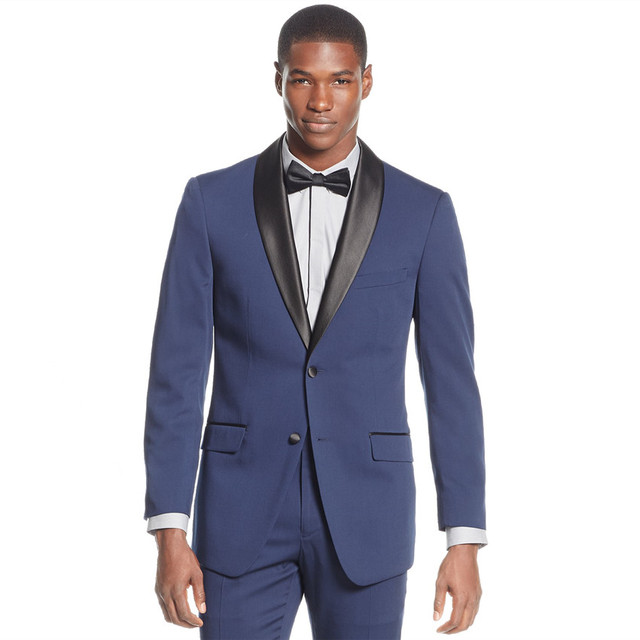 Anna Magnan Fashion Blue Mens Casual Suits 2 Ons Bespoke Business Working Wedding Tuxedos Party