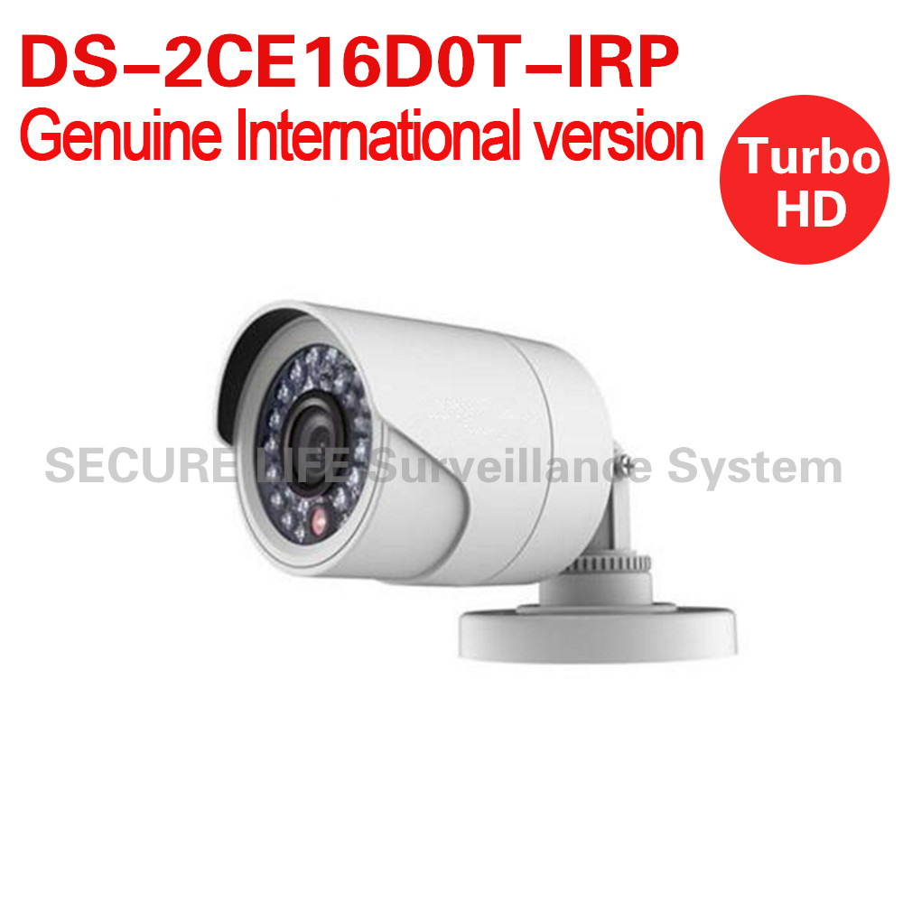 DS-2CE16D0T-IRP English version 2MP Bullet turbo HD TVI Camera up to 20m IR OSD menu IP66 up to coax hikvision original english version ds 2ce16d1t irp hd1080p ir bullet camera 2mp ip66 weatherproof up the coax cctv camera