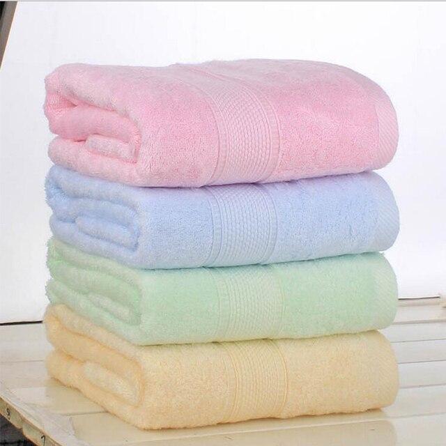 "Nuovo 140x70 cm (27x55 "") fibra di bambù bagno towel solido rosa tenue towel cas"