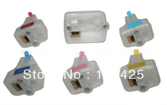 1 Set For HP 363 Refillable Ink Cartridge with chip for HP Photosmart C5180 C6180 C6280 C7160 C7180 C7280 C8180 D6160 D6180