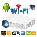 Led96 5500 lúmenes Android 4.4 1080 P wifi proyector led 3d full hd de cine en casa lcd proyector de vídeo projektor projetor beamer bt96