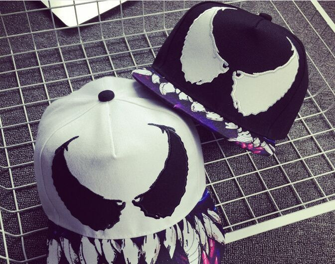 5pcs/lot 01805-shi hot sell Graffiti spider south Korean style baseball hat Men & Women snapback hip hop cap wholesale