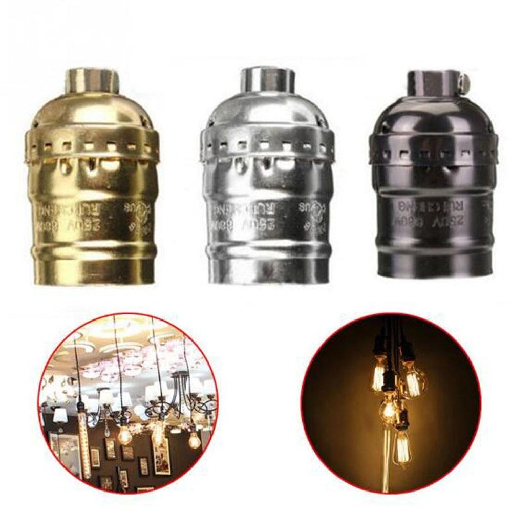 Vintage Edison E27 Screw Bulb Aluminum Shell Base Lamp Holder Pendant Lighting Socket Light Adaptor Cable Lighting Accessories