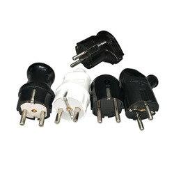 Cable plug Electrical Plug For European Socket Converter White and Black Male plug Markel viko legrand Schneider livolo