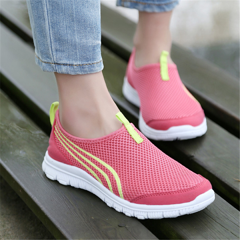 Nice Spring Summer Fashion Unisex Casual Walking Shoes Flats  ShoesBreathable Mesh Antiskid Travel Zapatillas Shoes-in Men's Casual Shoes  from Shoes on ...