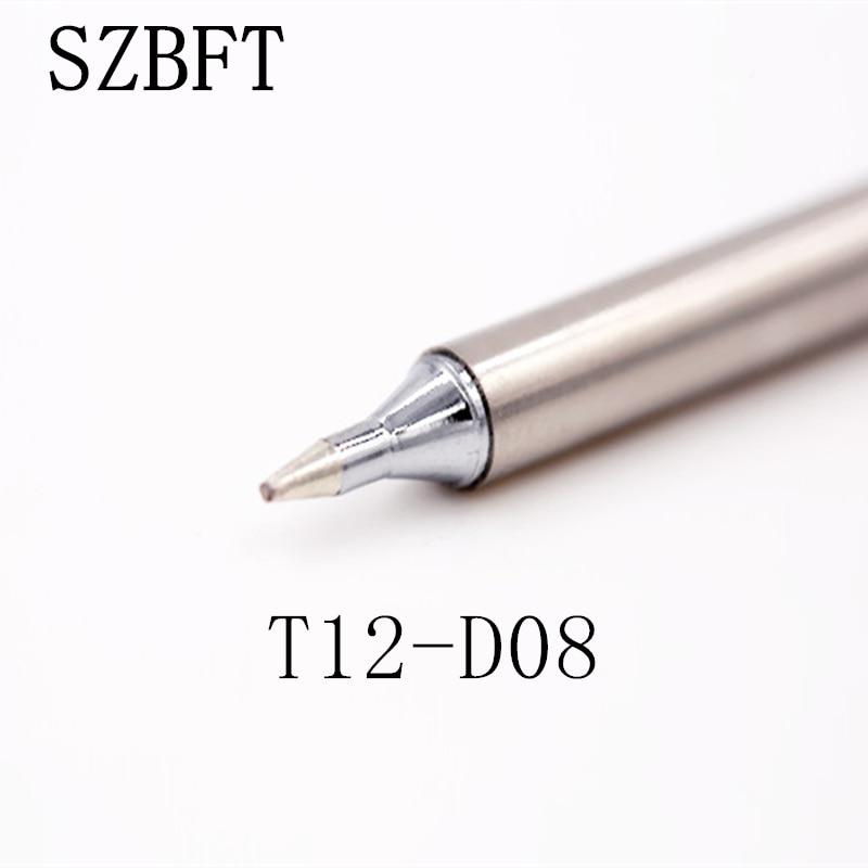 SZBFT نکات آهن لحیم کاری T12-D08 B B2 BC1 BC2 BC3 BC3 BCF1 سری برای Hakko لحیم کاری ایستگاه FX-951 FX-952 حمل و نقل رایگان