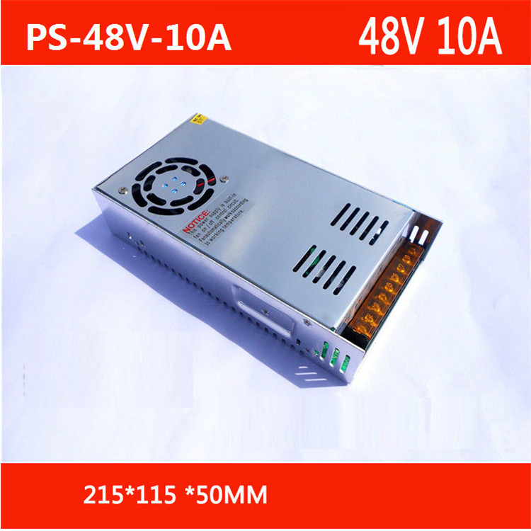 цена на Free Shipping AC 110-240V to DC 48V 10A Switching Power Supply Converter with power cable PS-48V-10A