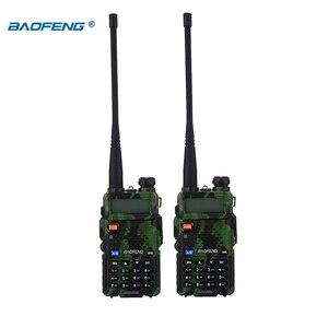Image 2 - BaoFeng walkie talkie UV 5R 2 teile/los two way radio baofeng uv5r 128CH 5W VHF UHF 136 174Mhz & 400 520Mhz