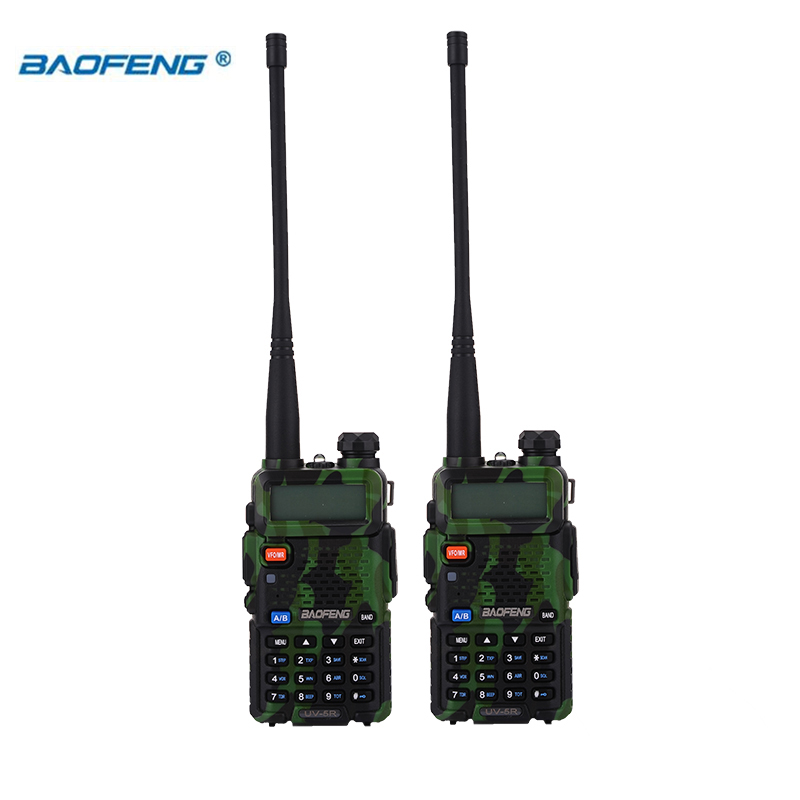 Image 2 - BaoFeng walkie talkie UV 5R 2pcs/lot two way radio baofeng uv5r 128CH 5W VHF UHF 136 174Mhz & 400 520Mhz-in Walkie Talkie from Cellphones & Telecommunications