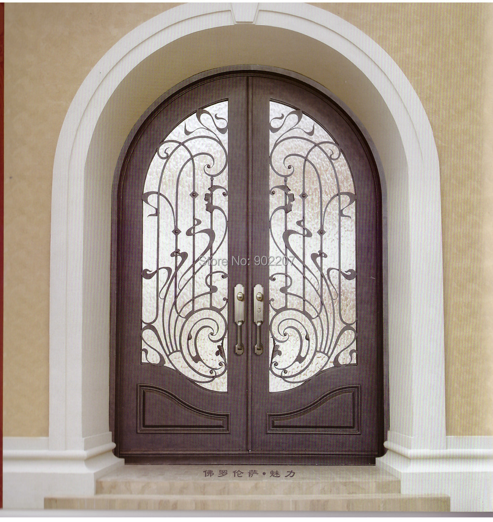 Custom design wrought iron entry door manufacturer model hench custom design wrought iron entry door manufacturer model hench ied2 in gates from home improvement on aliexpress alibaba group rubansaba