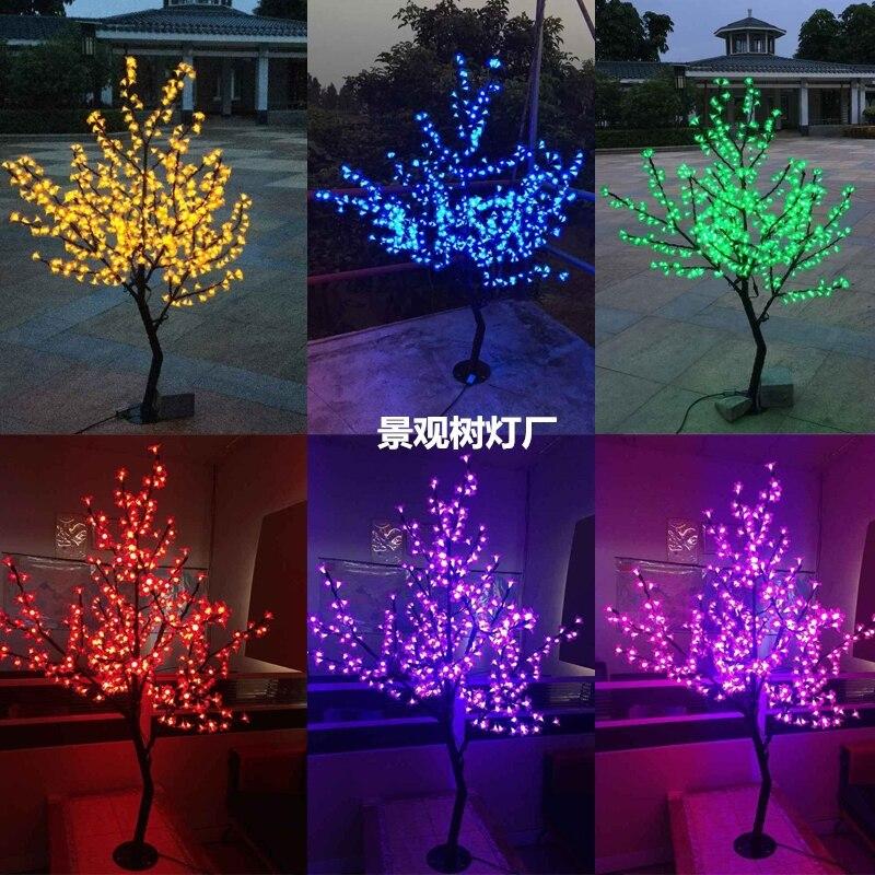 Бесплатная доставка 4.2ft 1,2 м LED Вишневое дерево Рождество Новый год вечеринка Свадьба Праздник дом сад свет 360LED водонепроницаемый
