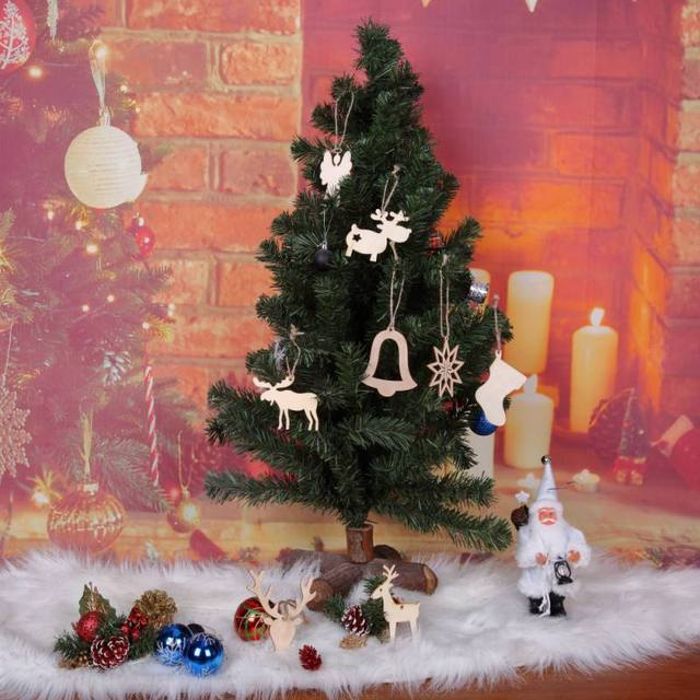 10Pc Christmas Home Decoration Wooden Shooting Star Bell Gift Tree Sign for Christmas Tree Hanging Ornaments & Aliexpress.com : Buy 10Pc Christmas Home Decoration Wooden Shooting ...