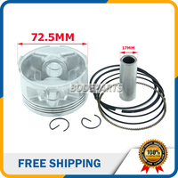 HH137 69MM 69 18mm Cylinder Engine Assembly Piston Set Ring Kit For FS Feishen LH Linhai