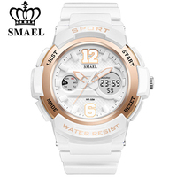 SMAEL Watch Women Brand Luxury Fashion Casual Quartz Watches Leather Sport Lady Relojes Mujer Dress Digitalwristwatch