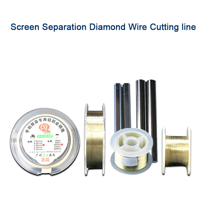 005 0 06 0 08mm Mobile Screen High Hardness Special gol Wire Cutting Line LCD Screen Separation 100M 500M 1000M in Phone Accessory Bundles Sets from Cellphones Telecommunications